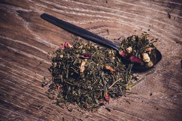 herbal tea with dried flowers