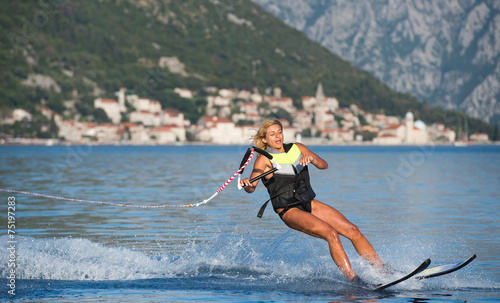 Canvas Water Motorsp. water skiing