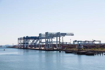 Freight Cranes at Dawn