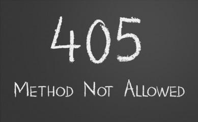 HTTP Status code 405 Method Not Allowed