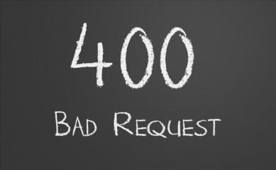 HTTP Status code 400 Bad Request