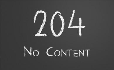 HTTP Status code 204 No Content