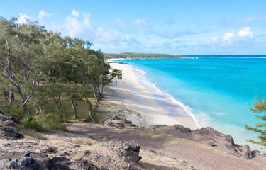 plage de sable blanc à l'Anse Ally, île Rodrigues