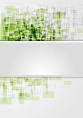 Corporate shiny tech squares design