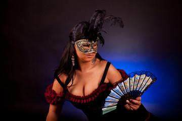 Beautiful masked woman