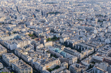 Aerial view Streets Paris