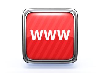www square icon on white background