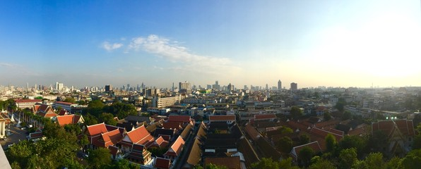 panoramic view of bangkok cityscape