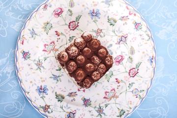 Tiramisu on a plate