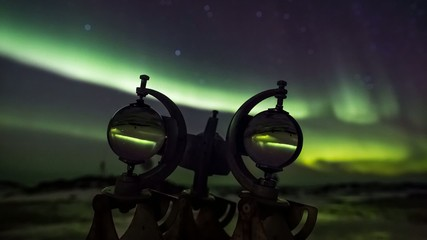 Heliographs (meteorological instruments) and Northern Lights