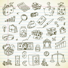 Freehand drawing Business and Finance items