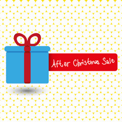 gift after christmas sale - stock vector