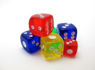 coloured dice