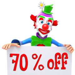 Clown christmas sale 70 percent discount