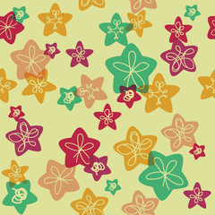 Seamless pattern for kids retro