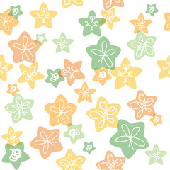 Seamless pattern for kids light