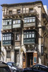 Typische Balkone in La Valletta
