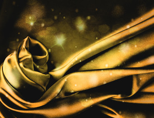 Expensive gold silk background.