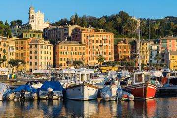 Rapallo, Italy, marina at surise