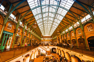 LONDON - SEP 27: Tourists visit the Covent Garden Market Septemb