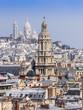 Paris, France. A view from a survey terrace. Roofs of Paris
