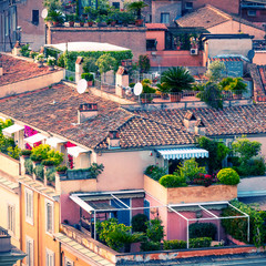 Beautiful rooftops of Rome
