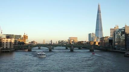 London skyline, include Blackfriars Bridge