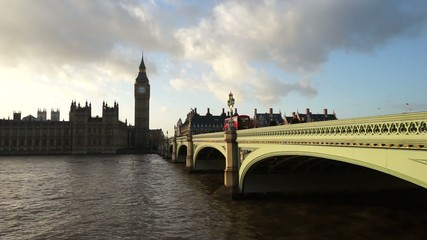 Palace of Westminster, include big ben, pan