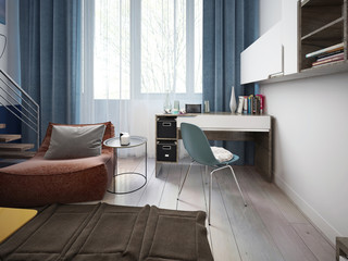 Teen room contemporary style