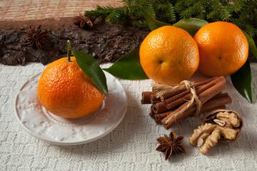 Mandarin gingerbread Christmas