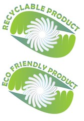 Label for recyclable and eco friendly products