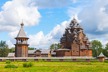 Russian wooden Church of the Intercession