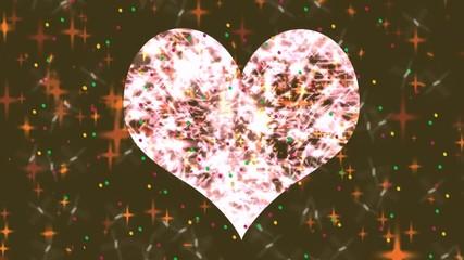 Сердце, сложение из огней