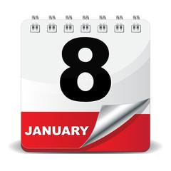 8 JANUARY ICON