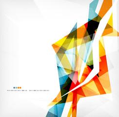 Angular geometric color shapes