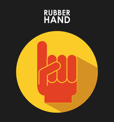 rubber hand