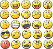 Collection of smiley faces - 75217042