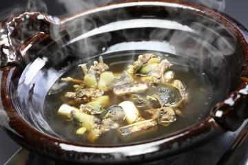 suppon nabe, japanese softshell turtle hot pot stew