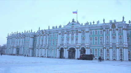 The State Hermitage Museum in winter. St. Petersburg. Russia