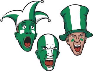football fans from Nigeria
