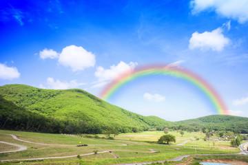 Mountainous and rainbow