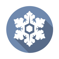 snowflake icon with a long shadow