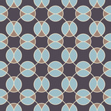 Abstract geometric seamless pattern with circles