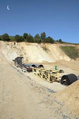Carrière d'extraction de sable