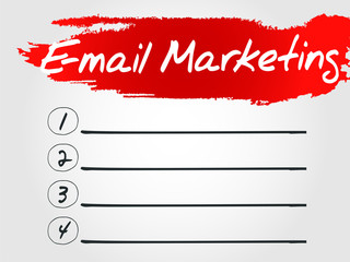 E-mail Marketing Blank List, vector business concept background