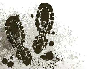 mud of footprint