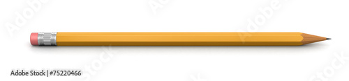 canvas print picture Pencil (clipping path included)
