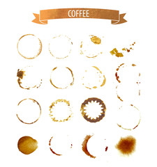 coffee stain circles in brown tones