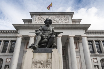 Statue of Velazquez in Prado museum, Madrid (Spain)