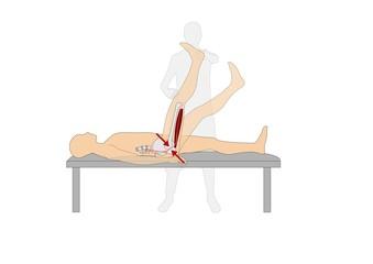 Test di Lasègue, controllo compressione nervo sciatico